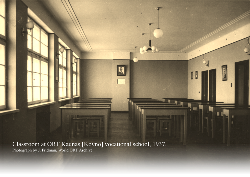 Classroom at ORT Kaunas [Kovno] vocational school, 1937.  Photograph by J. Fridman, World ORT Archive