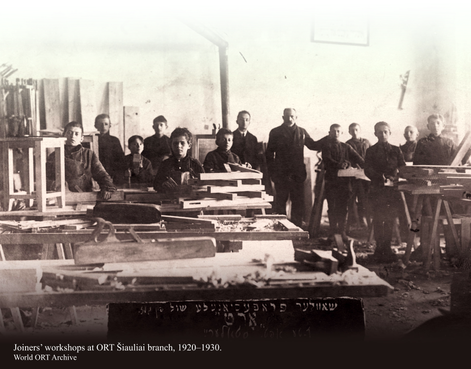 Joiners' workshops at ORT Šiauliai branch, 1920–1930. World ORT Archive