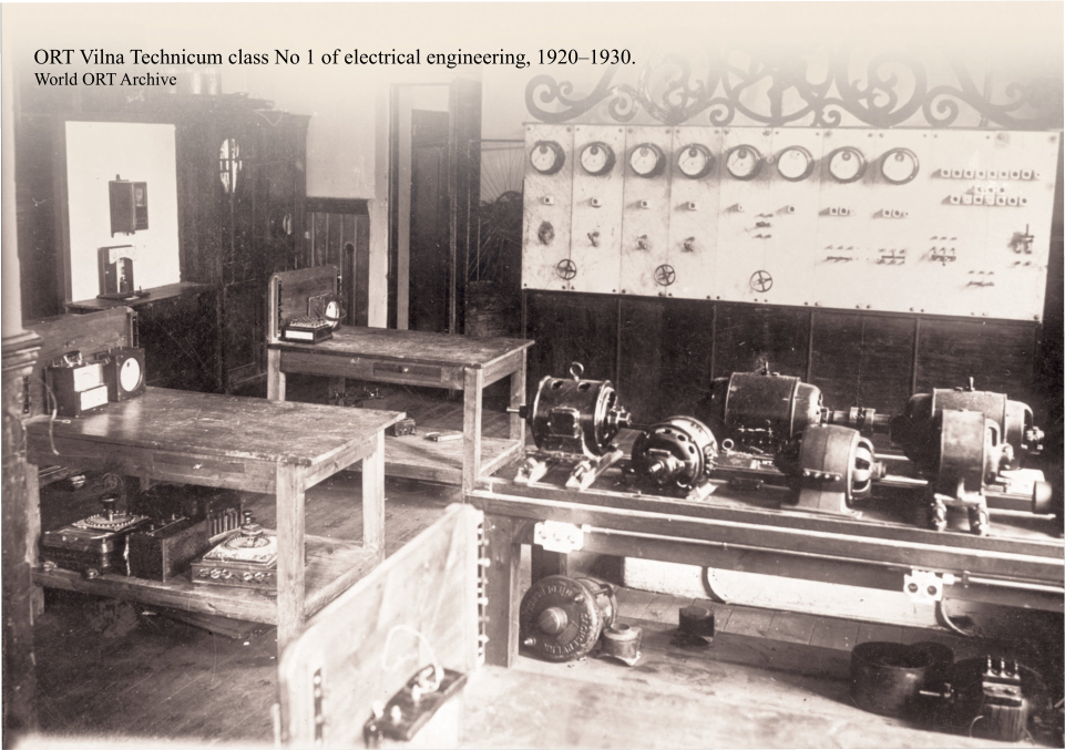 ORT Vilna Technicum class No 1 of electrical engineering, 1920–1930. World ORT Archive